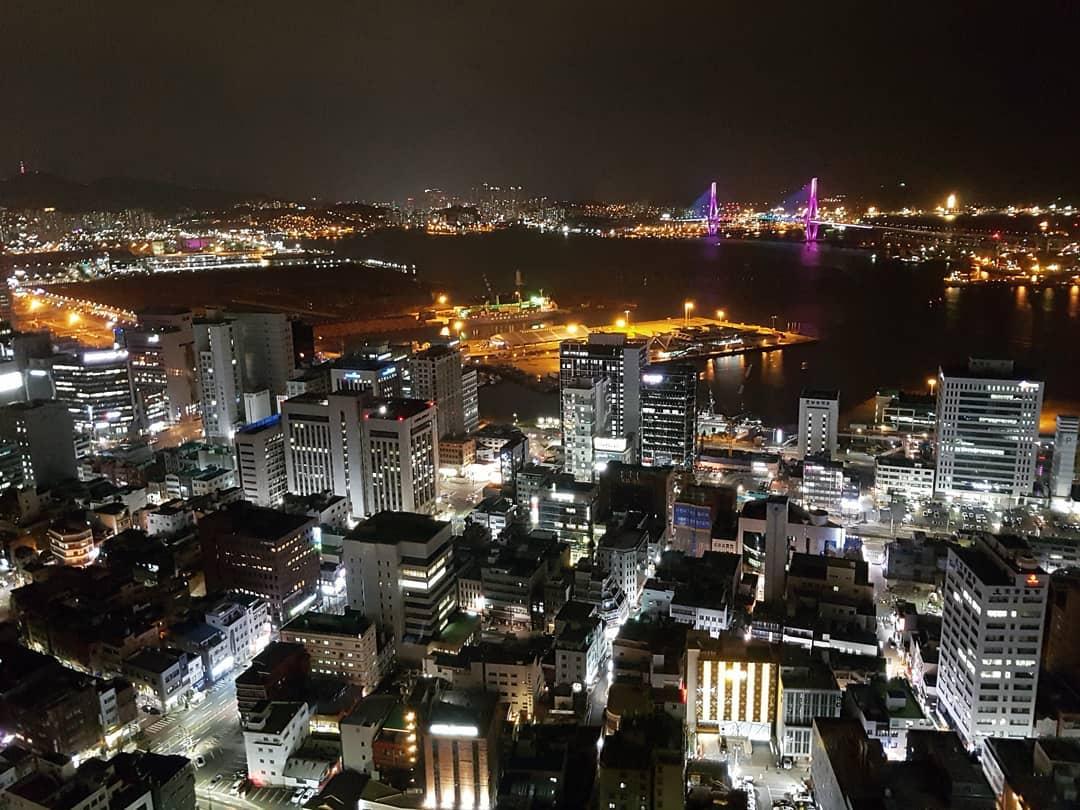 釜山タワー夜景
