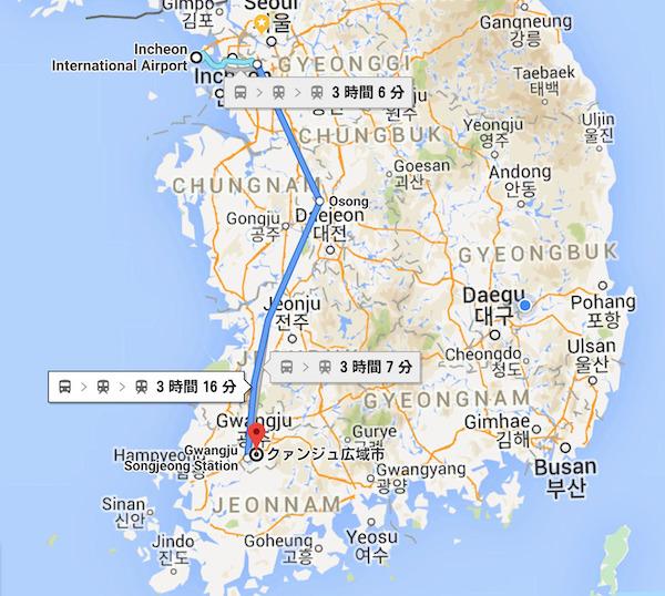仁川国際空港-クァンジュ-バス