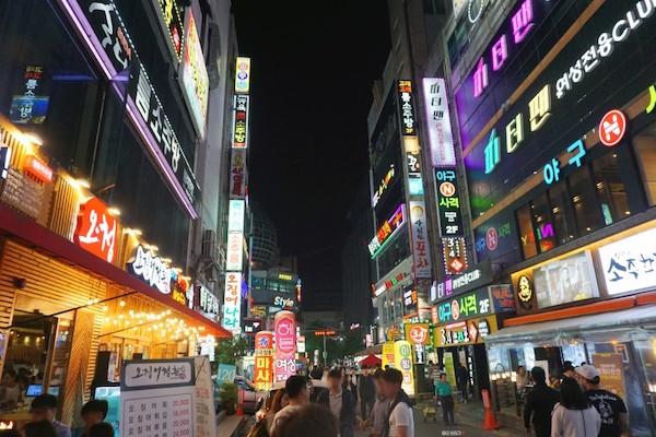 繁華街韓国